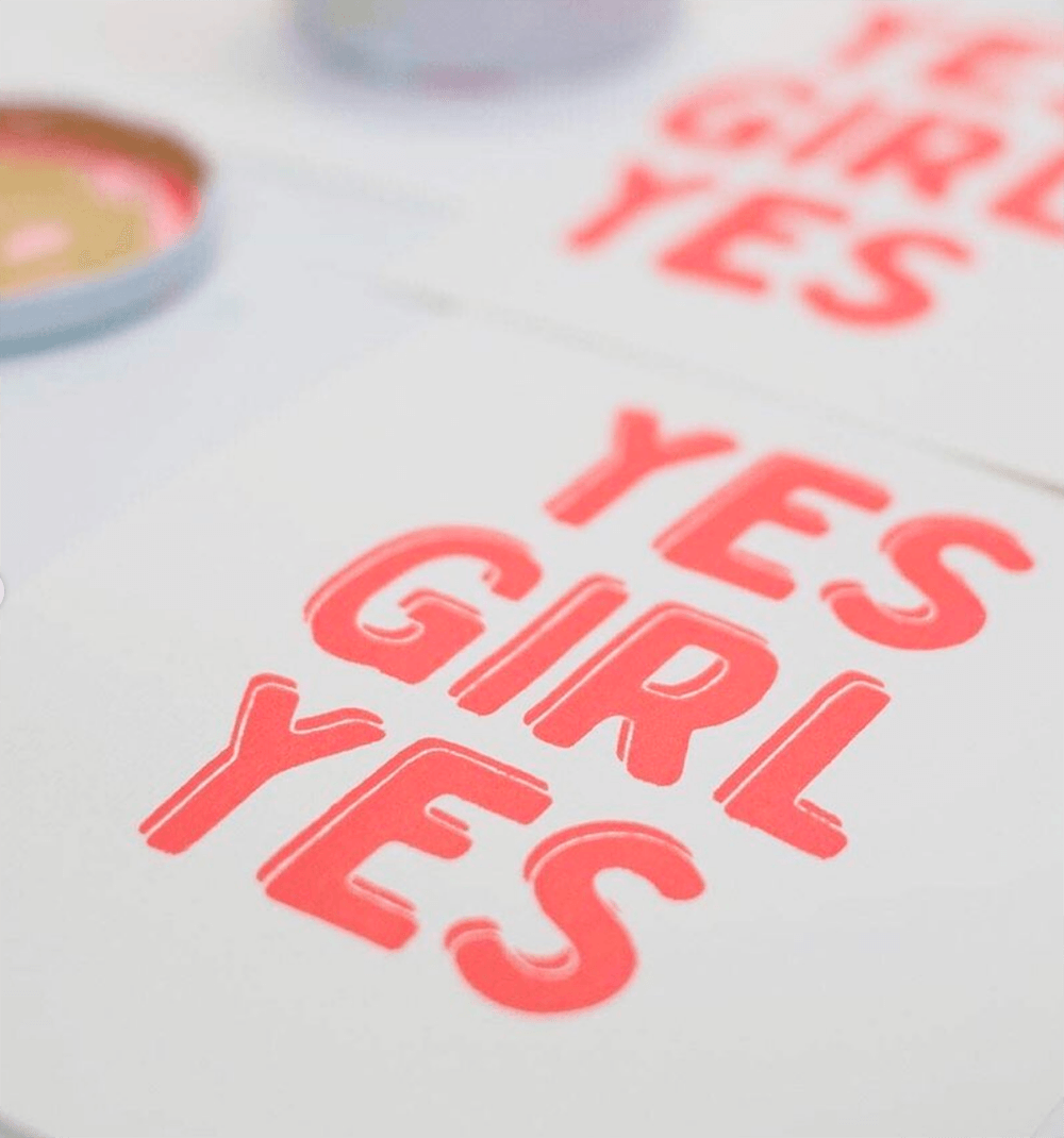 Siebdruck Yes Girl Yes Print