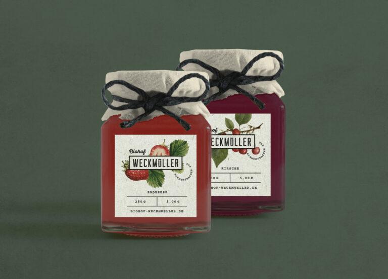 Biohof Weckmüller Marmelade Etikett